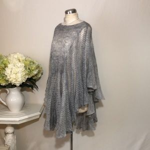 Free People Knit Sweater Poncho NWOT